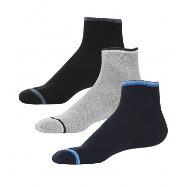 Men's Cotton Free Size Casual Ankle Socks - Pack of 3